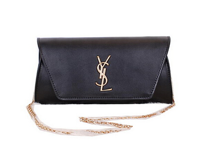 2014 New Saint Laurent Small Betty Bag Calf Leather Y7139 Black