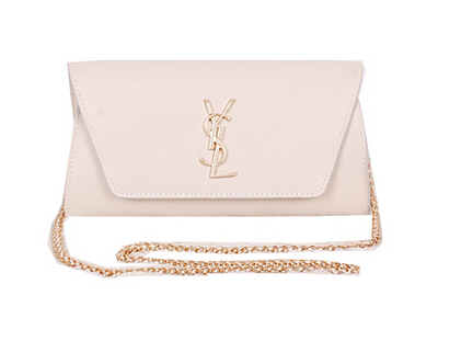 2014 New Saint Laurent Small Betty Bag Calf Leather Y7139 OffWhite