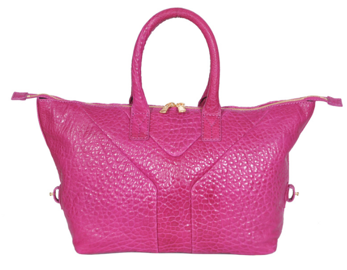 YSL 2013,Cheap Yves Saint-laurent Medium Easy Satchel in fushia