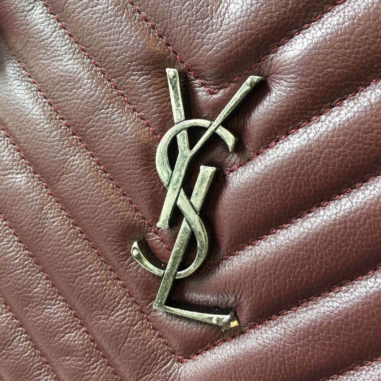 New Arrival!2016 Cheap YSL Out Sale with Free Shipping-Saint Laurent Classic Monogram Shopping Bag in Bordeaux MATELASSE Leather