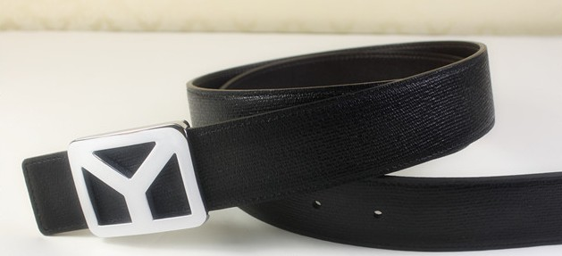 2013 new YSL belt in black with silver Y buckle,Ysl belt outlet