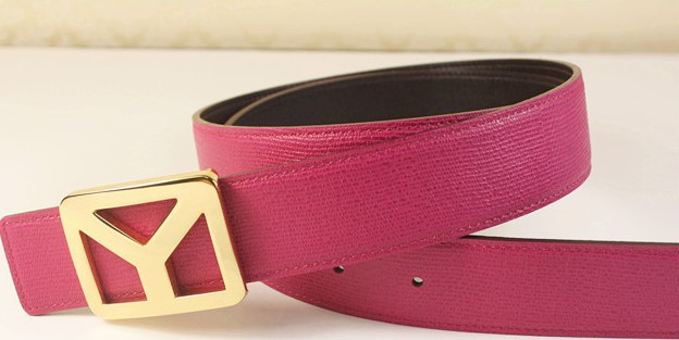 2013 new YSL belt with gold Y buckle peony pink,Ysl belt outlet