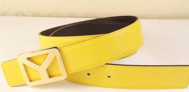 2013 new YSL belt with gold Y buckle yellow,Ysl belt outlet
