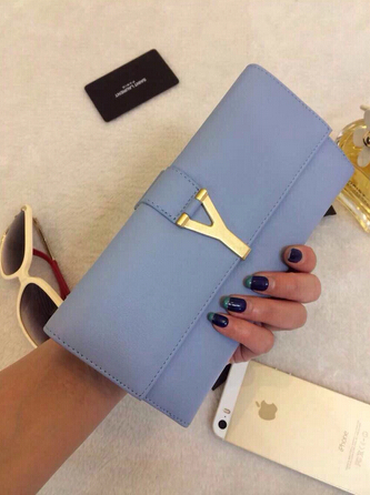 2015 New Saint Laurent Bag Cheap Sale -YSL Original Leather in Light Blue YSL0209