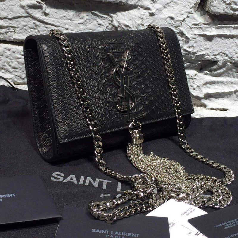 ysl bag france - Saint Laurent Classic Monogram Saint Laurent Tassel Clutch In ...