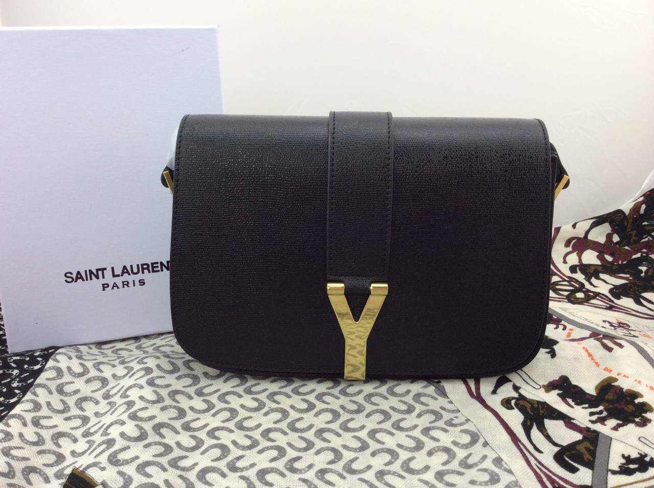 2015 New Saint Laurent Bag Cheap Sale-Saint Laurent Classic Medium Monogram UNIVERSITE BAG in Black Gained Leather