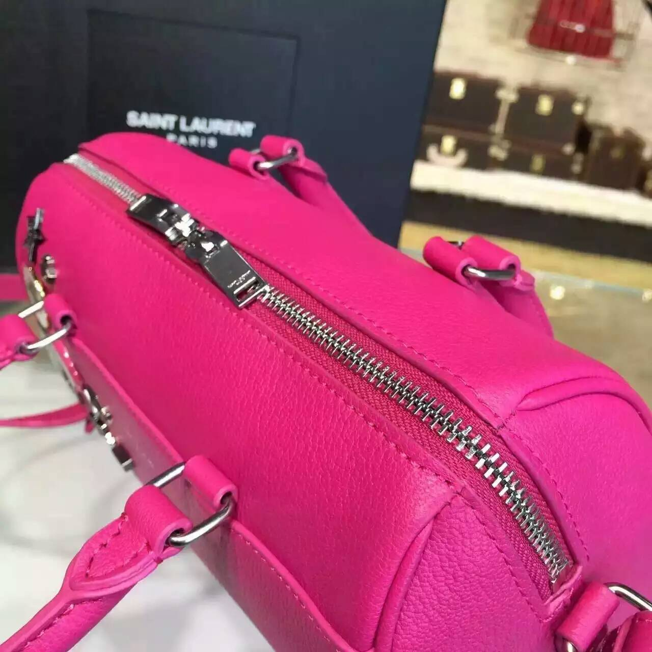 Limited Edition!2015 New Saint Laurent Bag Cheap Sale-Saint Laurent Monogram Cabas Bag in Rose Grained Calfskin Leather