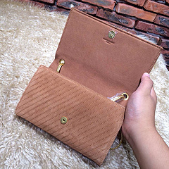 2015 New Saint Laurent Bag Cheap Sale- YSL Chain Bag in Camel Nubuck Leather YSL12112