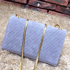 2015 New Saint Laurent Bag Cheap Sale- YSL Chain Bag in Light Blue Nubuck Leather YSL12113