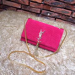 >2015 New Saint Laurent Bag Cheap Sale- YSL Chain Bag in Rose Nubuck Leather YSL12114