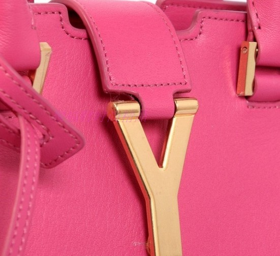 2013 Cheap Saint Laurent Petit Cabas Y in Peony Leather - Click Image to Close