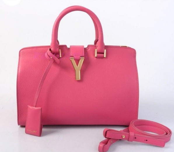 2013 Cheap Saint Laurent Petit Cabas Y in Peony Leather
