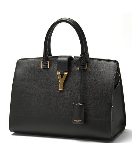 2013 YSL Cabas Chyc calfskin handbag medium 279079 black