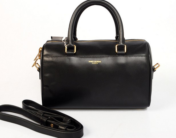 2014 Discount YSL bags,Classic Duffle 6 Bag in black Leather