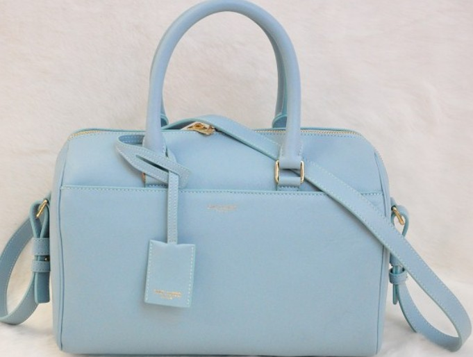 2014 Discount YSL bags,Classic Duffle 6 Bag in Blue Leather