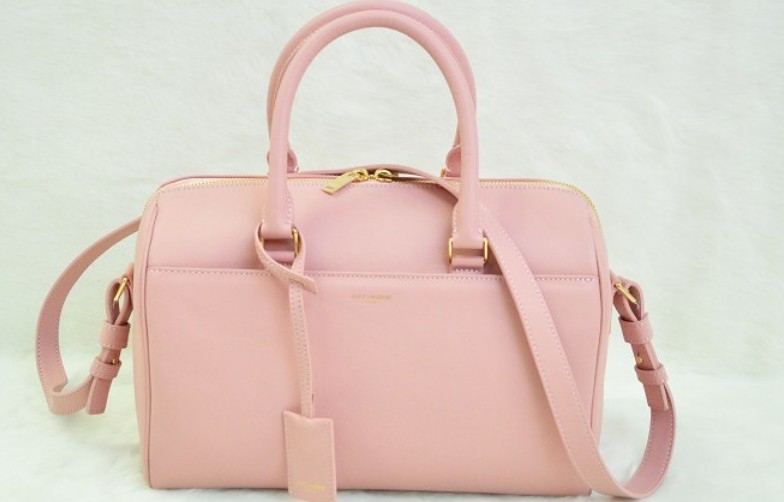 2014 Discount YSL bags,Classic Duffle 6 Bag in PINK Leather