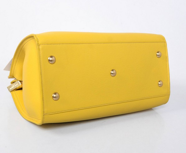 2013 Cheap Saint Laurent Petit Cabas Y in Yellow Leather