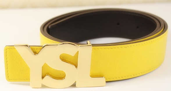 0 2013 Cheap YSL letter leather belt in yellow