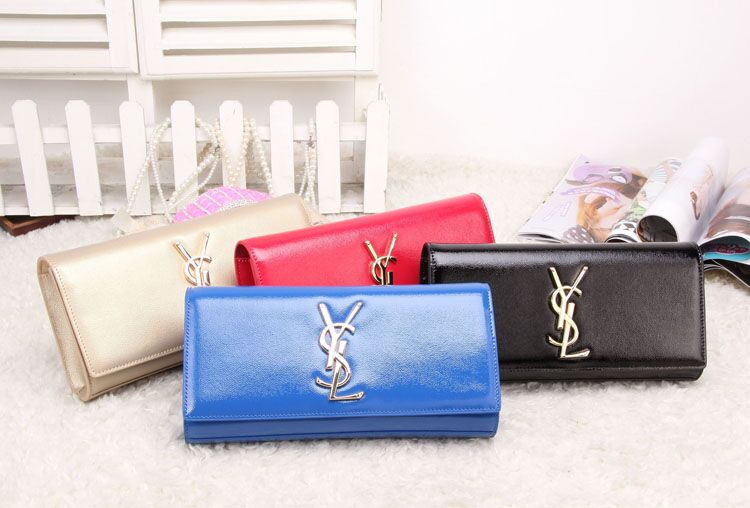 Cheap YSL Classic Monogramme Saint Laurent Clutch in Calfskin Leather
