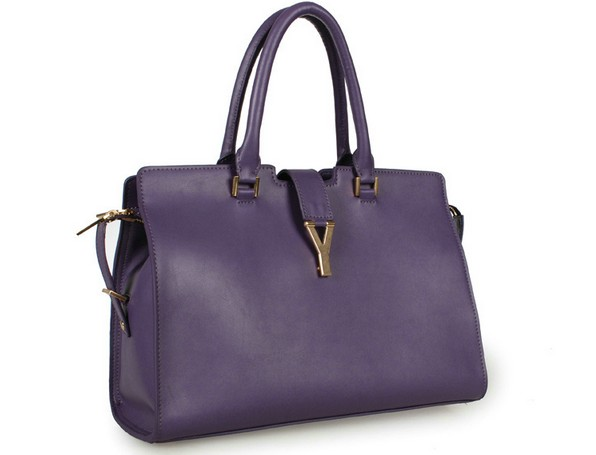 2013 Cheap Saint Laurent Petit Cabas Y in purple Leather