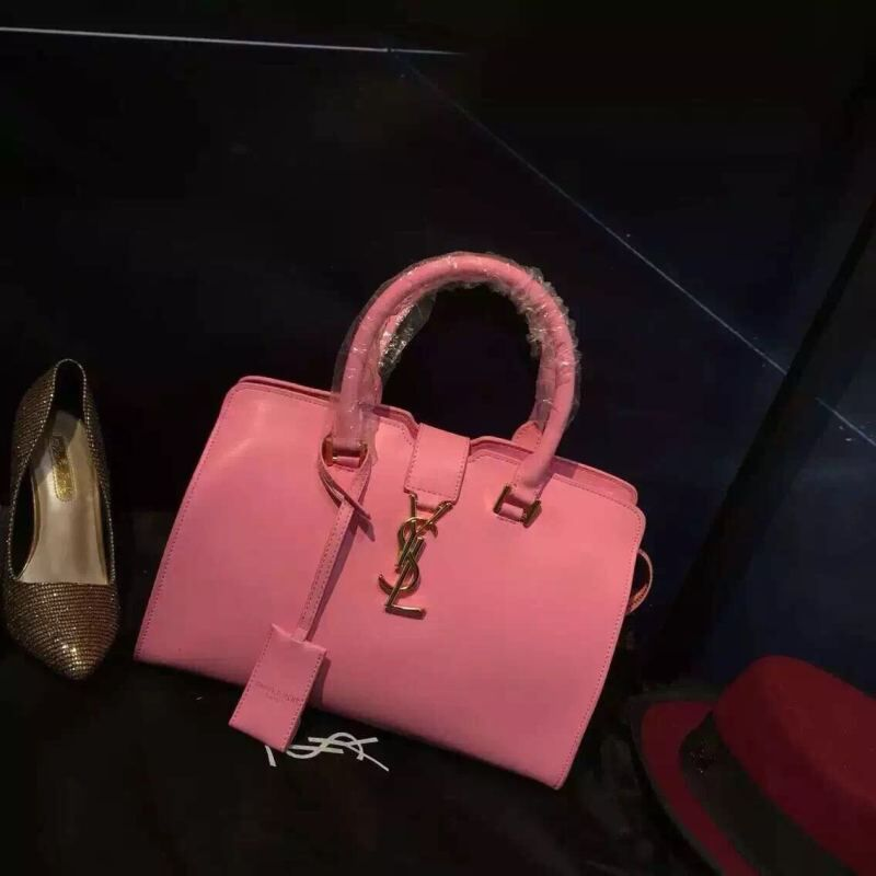 S/S 2016 New Saint Laurent Bag Cheap Sale-Saint Laurent Cabas Chyc Bag in Pink Calfskin Leather