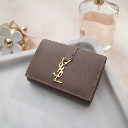 2018 S/S Saint Laurent 6 Key Holder in taupe Calfskin Leather