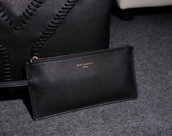 2014 Fall/Winter YSL Grained Leather Tote Bag Y7138 in Black