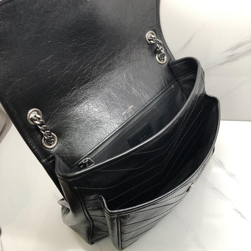 Ysl Large Monogramme Niki Chain Bag In Black Vintage