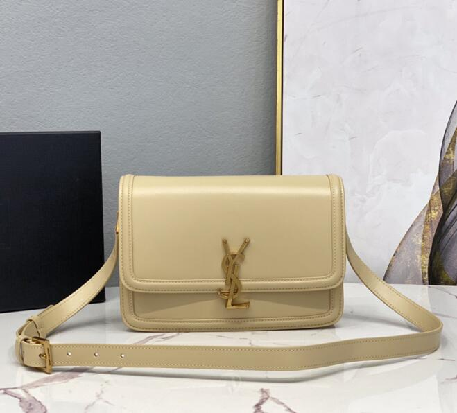2020 cheap Saint Laurent Medium solferino box apricot