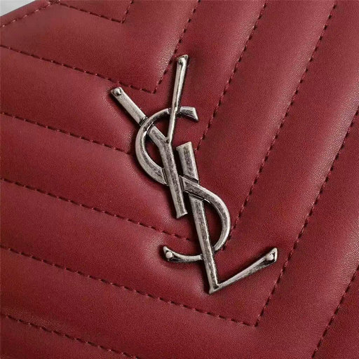 New Arrival!2016 Cheap YSL Out Sale with Free Shipping-Saint Laurent Classic Monogram Shopping Bag in Burgundy MATELASSE Leather
