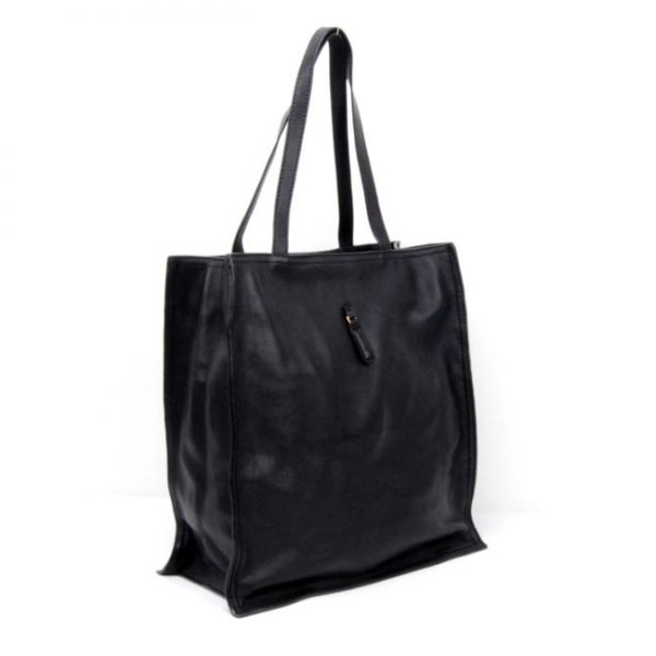 Yves Saint Laurent Walky Tote In Black Leather 22713