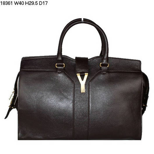 YSL Cabas 2012-Yves Saint Laurent Cabas Chyc In Coffee 738149