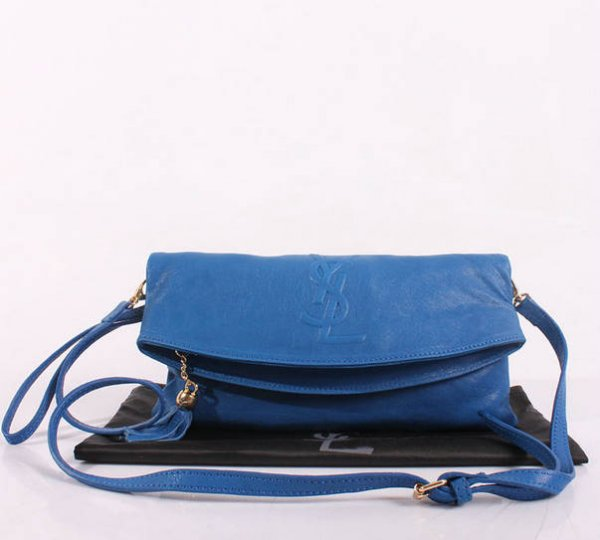 2013 YSL Bags-Yves Saint Laurent Chyc In Blue Leather Women s Shoulder Bag  26391 4ec428d0adf56