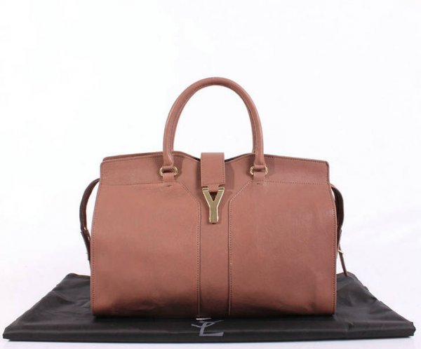 YSL Cabas 2012-Yves Saint Laurent Cabas Chyc In Pink Leather Women's Top Handle Bag 26381