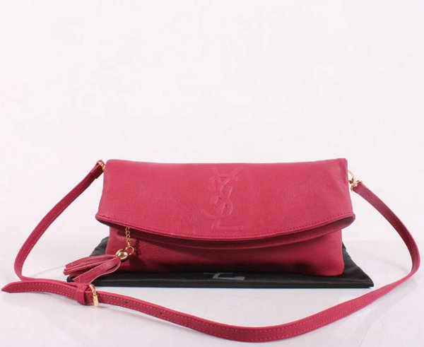 2013 YSL Bags-Yves Saint Laurent Chyc In Pink Leather Women's Shoulder Bag 26395