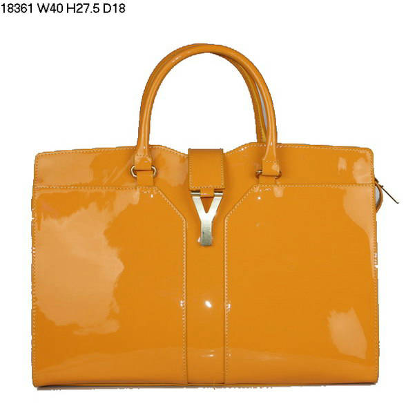 YSL Cabas 2012-Yves Saint Laurent Cabas Chyc In Yellow 738151