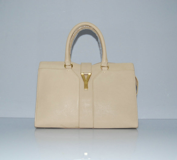 YSL Cabas 2012-Yves Saint Laurent Cabas Chyc In Beige Suede Women's Top Handle Bag 11011