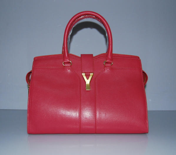 YSL Cabas 2012-Yves Saint Laurent Cabas Chyc In Red Suede Women's Top Handle Bag 1101112