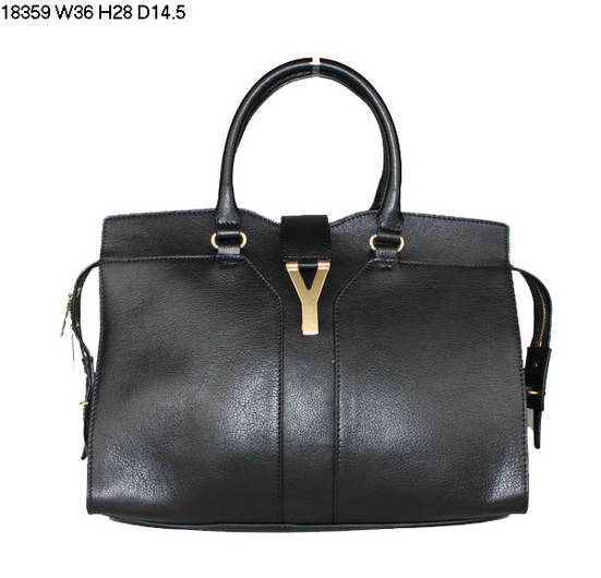 YSL Cabas 2012-Yves Saint Laurent Cabas Chyc In Black 754330