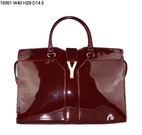 YSL Cabas 2012-Yves Saint Laurent Cabas Chyc In Patent Leather Women's Top Handle Leather Bag 26402