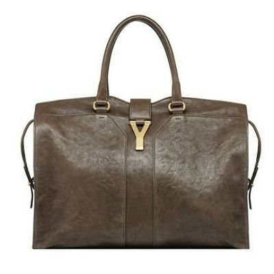 YSL Cabas 2012-Yves Saint Laurent Cabas Chyc In Brown Leather Women's Top Handle Bag 9952