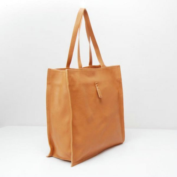Yves Saint Laurent Walky Tote In Orange Leather 22712
