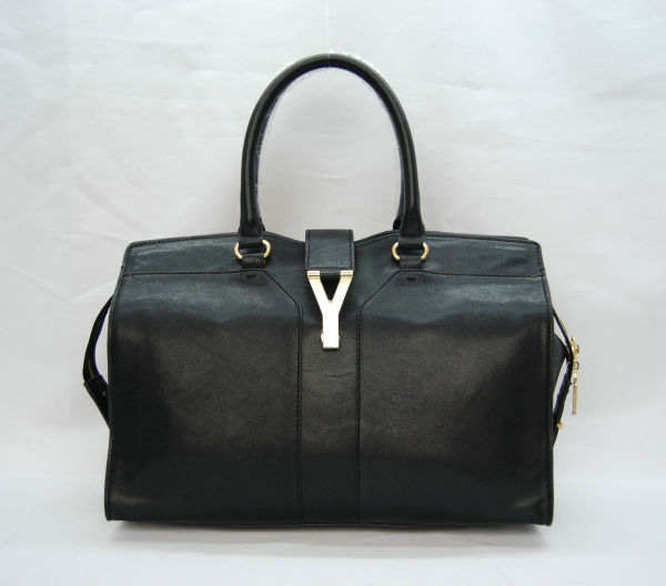YSL Cabas 2012-Yves Saint Laurent Cabas Chyc In Black Suede Women's Top Handle Bag 136130