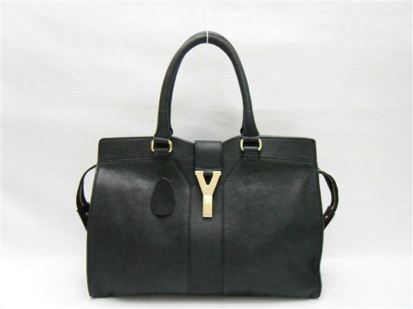 Ysl Large Cabas Chyc Black Leather Top Handle Bag 99966