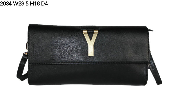 2013 YSL Bags-Yves Saint Laurent Chyc Clutch In Black 152586