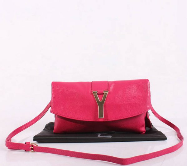 2013 YSL Bags-Yves Saint Laurent Chyc In Pink Leather Women's Shoulder Bag 26388