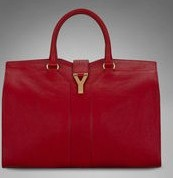 YSL Cabas 2012-Yves Saint Laurent Cabas Chyc In Red Women's Top Handle Leather Bag 99974