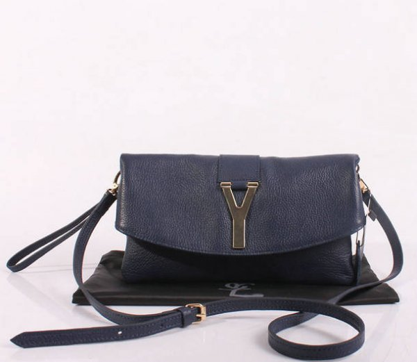ecc04423f0c7 2013 YSL Bags-Yves Saint Laurent Chyc In Blue Leather Women s Shoulder Bag  26387