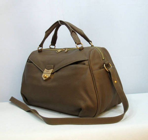 Cheap YSL Handbags-Yves Saint Laurent Dandy Bag In Coffee Textured Leather