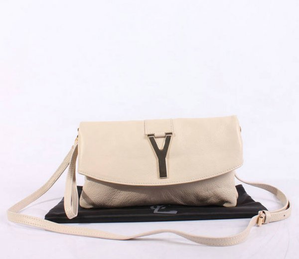 2013 YSL Bags-Yves Saint Laurent Chyc In White Leather Women's Shoulder Bag 26389